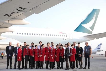 צוות קתאי פסיפיק ואיירבוס A350-1000