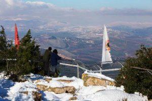 שלג בצוק מנרה (צילום: דרור ארצי)
