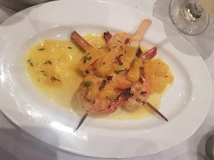 שרימפס במרינדת הדרים - מסעדת הצדף