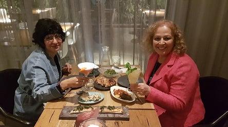 סיגל ואני במסעדת 'מאפו'