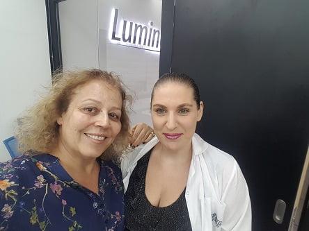 """עם ד""""ר רעות גליניק מיד לאחר הטיפול - LUMUNERA"""
