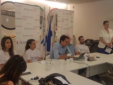 במסיבת העיתונאים במשרדי הועד האולימפי