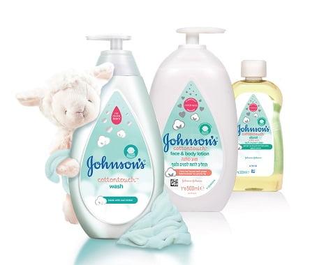 """סדרת מוצרים בריח כותנה של ג'ונסון (צילום: יח""""צ)"""
