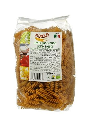 תבואות - פסטה מקמח כוסמין עדשים וקינואה (צילום: אייל קרן)