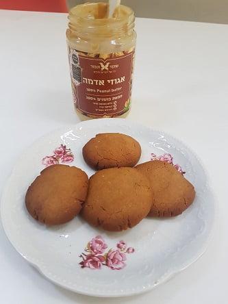 עוגיות חמאת בוטנים ללא סוכר