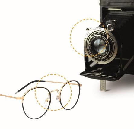 קודאק מסגרת המשקפיים כעדשת המצלמה