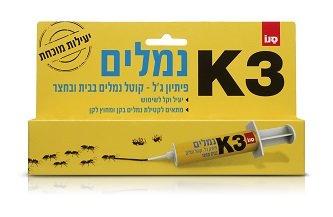 K3 סנו פיתיון ג'ל נמלים (צילןם: טל אזולאי)