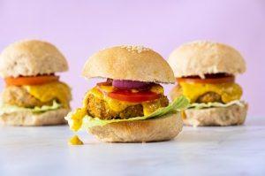 המבורגר טבעוני של אורי שביט (צילום: חגי לפלר)