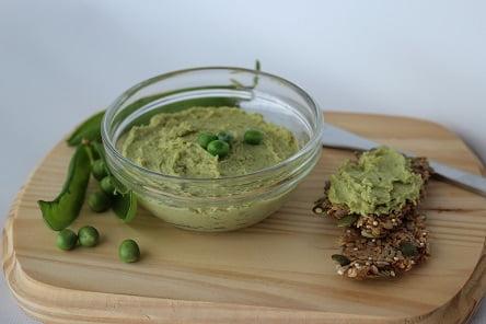 מתכון – ממרח אפונה ירוקה וטחינה