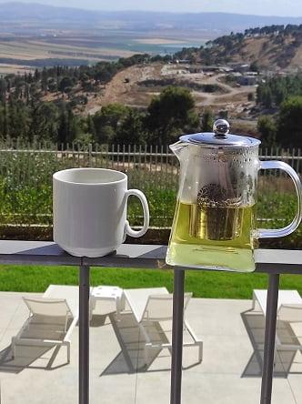 הנוף ממרפסת הספא במלון גולדן קראון, נצרת